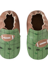 Robeez Brown & Green Football Applique Shoes