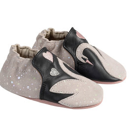Robeez Leather Swan Applique Shoe