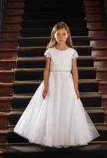 Sweetie Pie Lace First Holy Communion Dress Floral Top