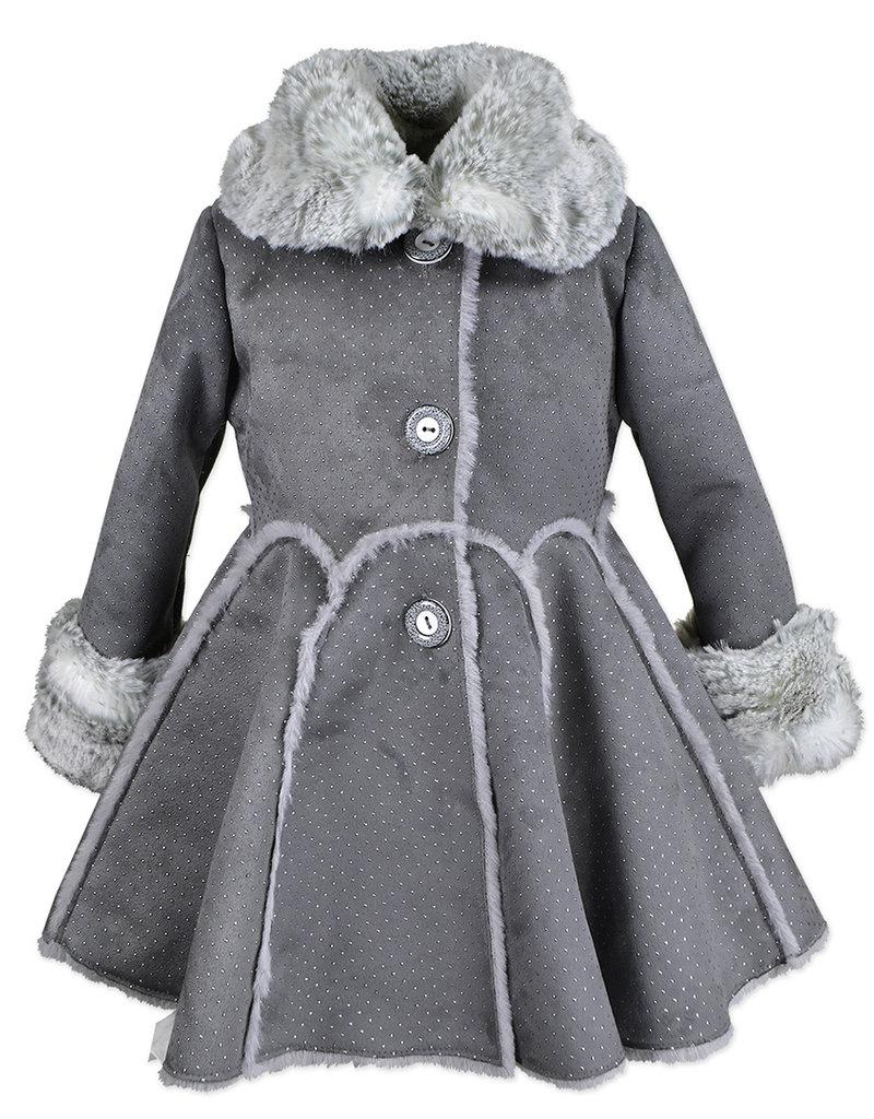Widgeon Metallic Dot Drindl Skirt Faux Fur coat