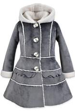 Widgeon Grey Velvet Tiered Coat