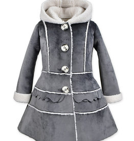 Widgeon Grey Velvet Tiered Coat