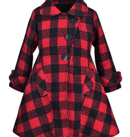 Widgeon Red Plaid Faux Fur Lined Coat