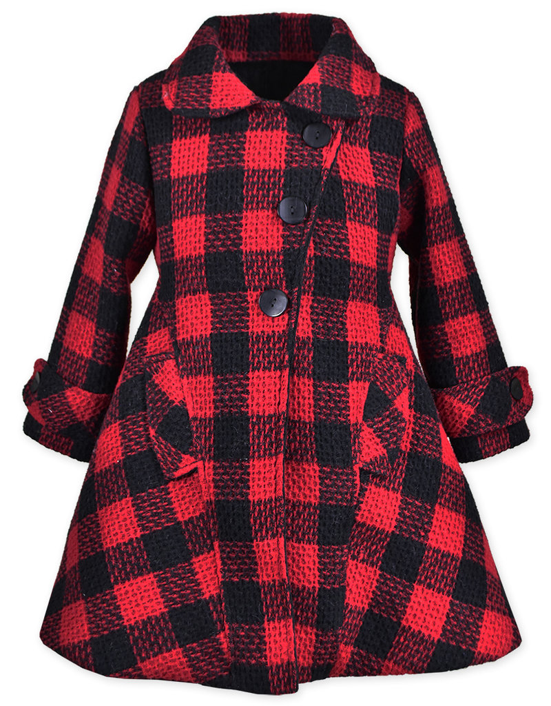 Widgeon Red Plaid Faux Fur Lined Coat