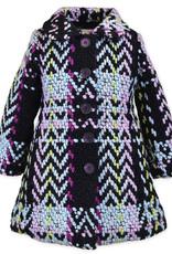 Widgeon MultiColor/Black A-Line Faux Fur Lined Coat