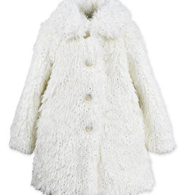 Widgeon Faux Fur Gold Foil Dot Coat
