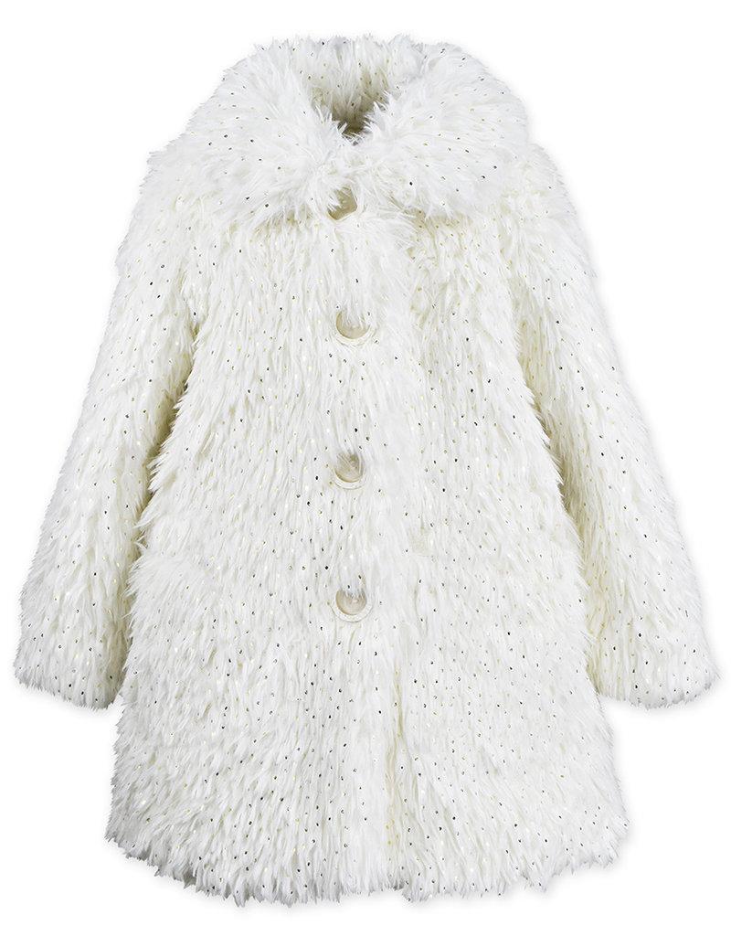 Widgeon Faux Fur Gold Foil Dot Coat