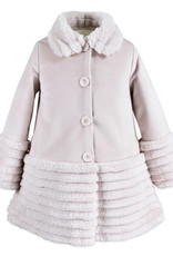 Widgeon Silky Velvet Pink Faux Fur Coat