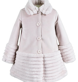 Widgeon Silky Velvet Pink Faux Fur Coat