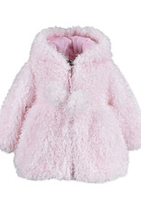 Widgeon Shaggy Pink Poodle Hooded Zip Front Coat