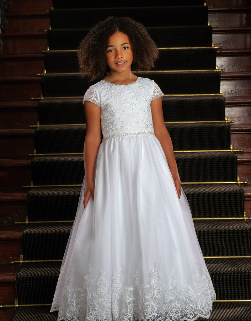 Sweetie Pie Crystallized Lace First Holy Communion Dress