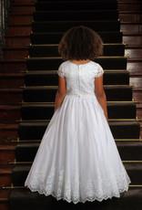 Sweetie Pie Lace Flower Applique w/bottom lace Communion Dress