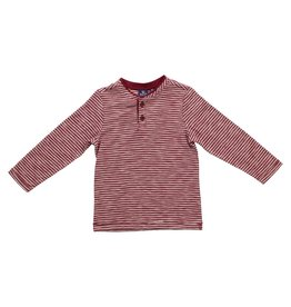 Bear Camp Burgundy Henley LS Tee