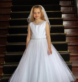 Sweetie Pie Sleeveless Glimmer First Holy Communion Dress