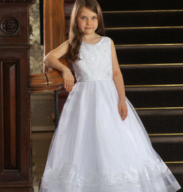 Sweetie Pie Bejewelled Lace  First Holy Communion Dress