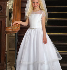 Sweetie Pie Tiered Mesh First Holy Communion Dress