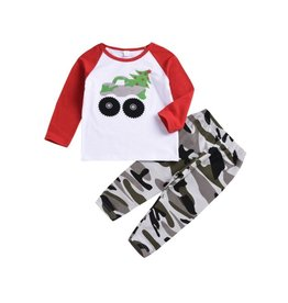 Baby Kiss Christmas Tree Truck Camo Lounge Set