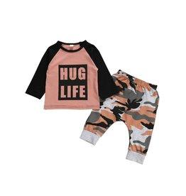 Baby Kiss Hug Life Pink Camo Set