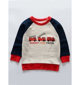 Baby Kiss Hurry Fire Truck Sweater