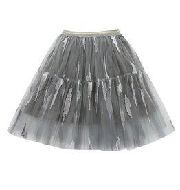 Baby Kiss Grey Sequin Mesh Skirt