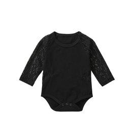 Black Onesie w/lace Sleeves