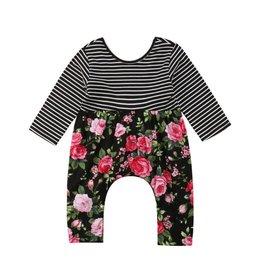 Stripes & Floral Jumpsuit