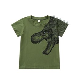 Green Dino Tee w, spike Detail