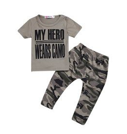 My Hero Wears Camo Tee & Pants Set