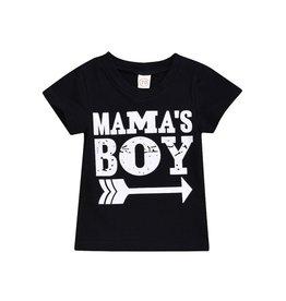 Mama's Boy Tee- Black