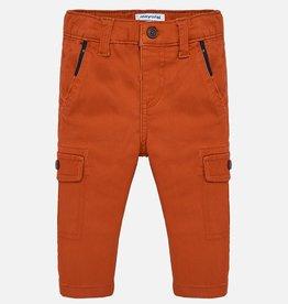 Mayoral Red Orange Cargo Pants