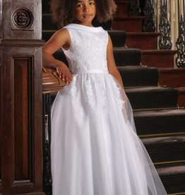 Sweetie Pie Scoop Neck First Holy Communion Lace Dress