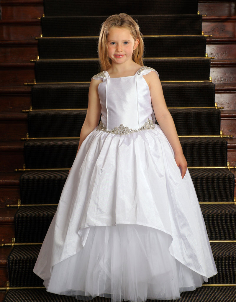 Sweetie Pie Ballgown Style First Holy Communion Dress w Crystals