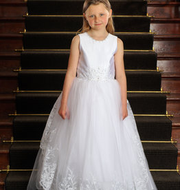 Sweetie Pie Tulle Lace Tank First Holy Communion Dress