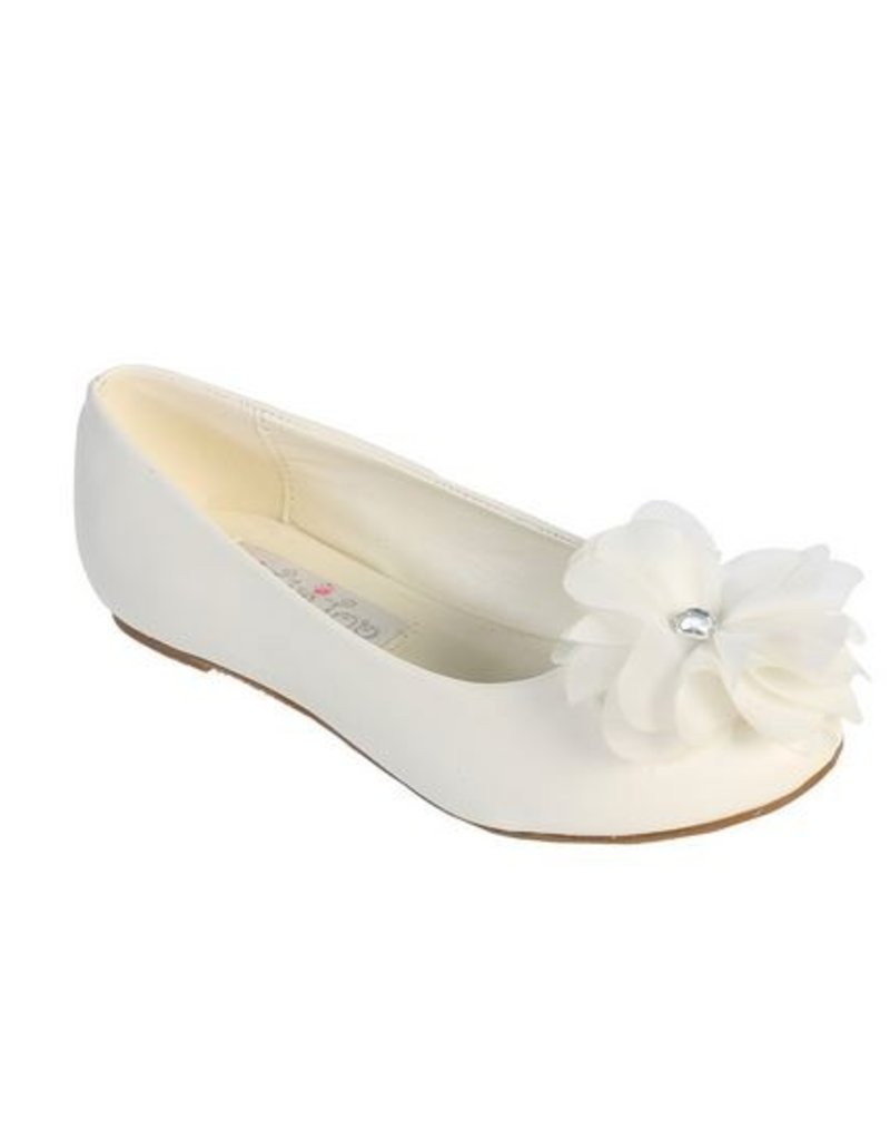 Hello Baby Large Flower Accented Flats