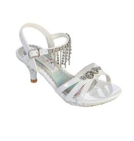 Hello Baby White Bejewelled Heel