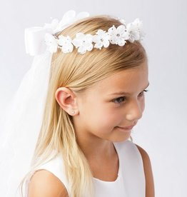 Hello Baby Rhinestoned Flower Crown veil