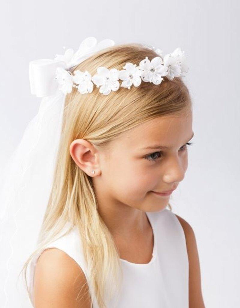 Hello Baby Rhinestoned Flower Crown veil