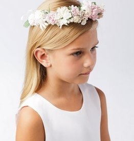 Hello Baby White & Blush Flower Crown