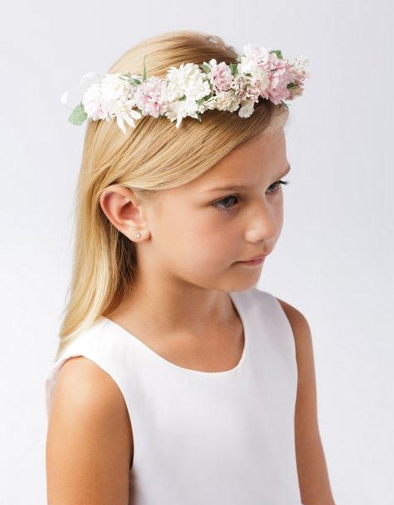 Hello Baby White & Blush Flower Crown
