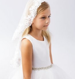 Hello Baby Classic Lace Trim Communion Veil