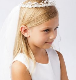 Hello Baby Princess Crown Communion Veil