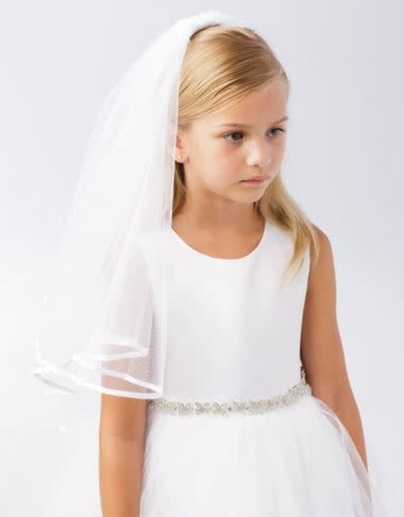 Hello Baby Satin Lined Communion Veil