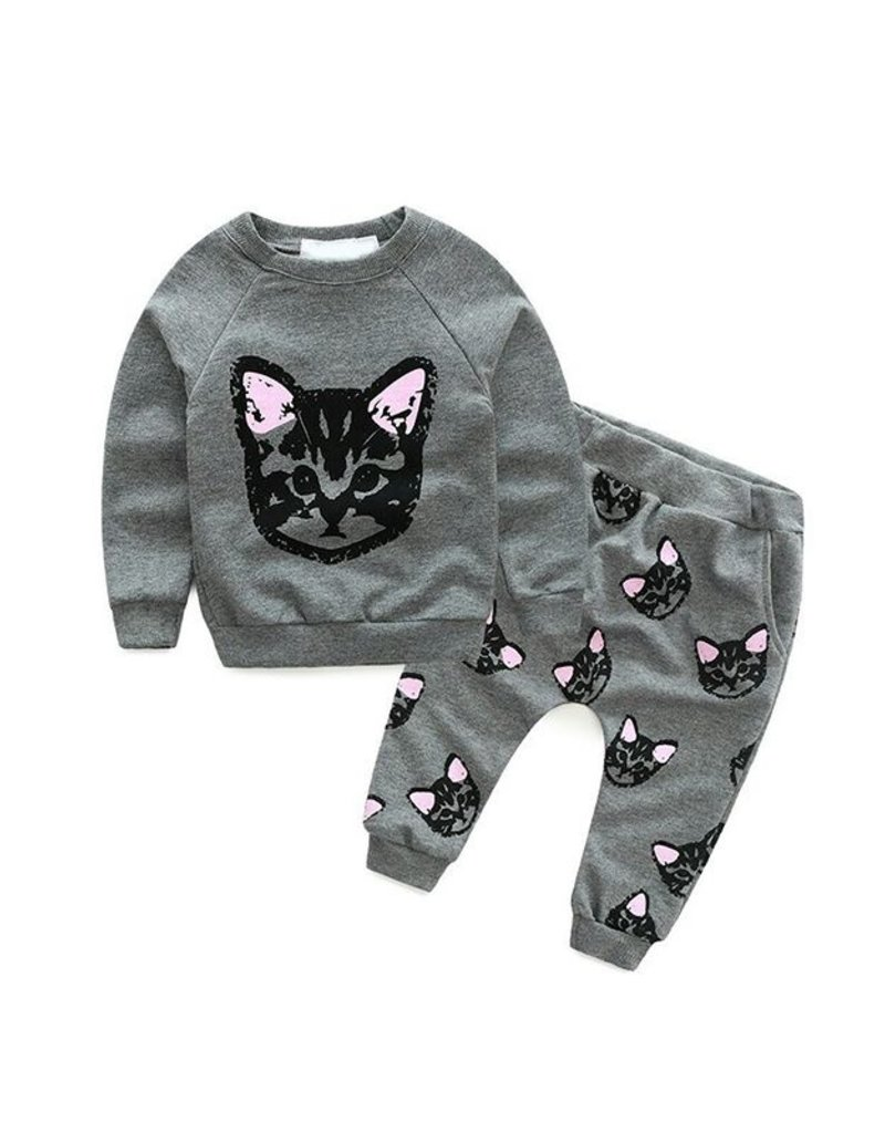 Baby Kiss Graphic Cat Lounge Set