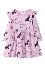 Baby Kiss Lilac Flutter Unicorn Dress