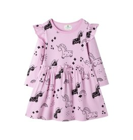 Baby Kiss Lilac Flutter Unicorn Dress