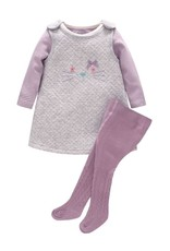 Baby Kiss 3 Piece Purple Jumper Dress Set