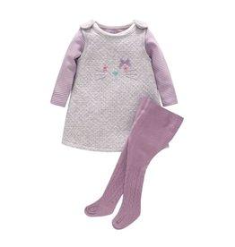 Baby Kiss 3 Piece Purple Jumper Dress Set