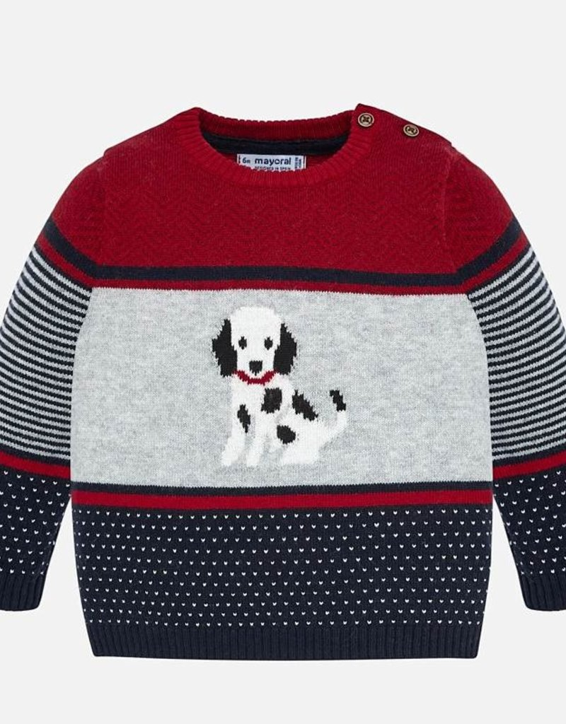 Mayoral Striped Doggy Sweater - Mayoral