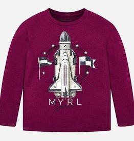 Mayoral Maroon Rocket LS Tee