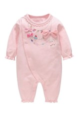 Baby Kiss Pink Bows & Kitten Jumpsuit